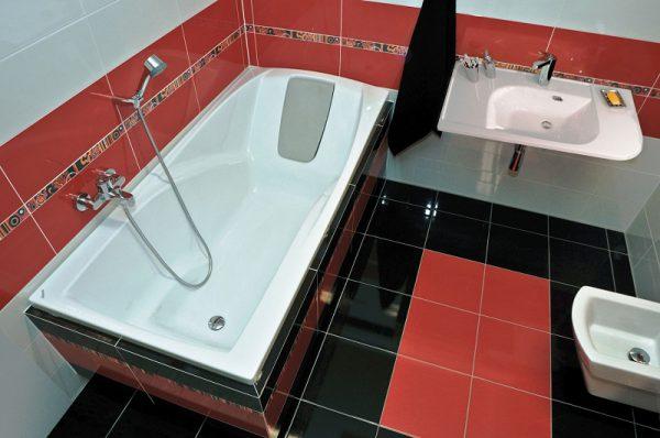 Акриловая ванна прямоугольной формы
