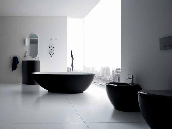 В комнате основной цвет белый, а мебель и аксессуары выполнены черным,контраст,который так важен соблюден