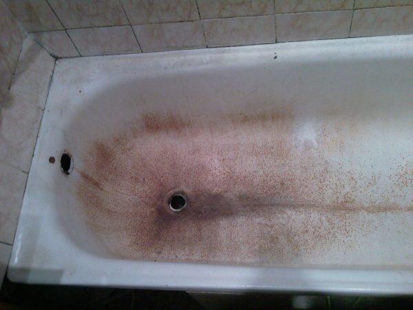Потертости ванны