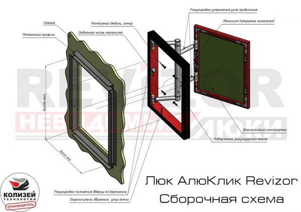 Схема монтажа люка