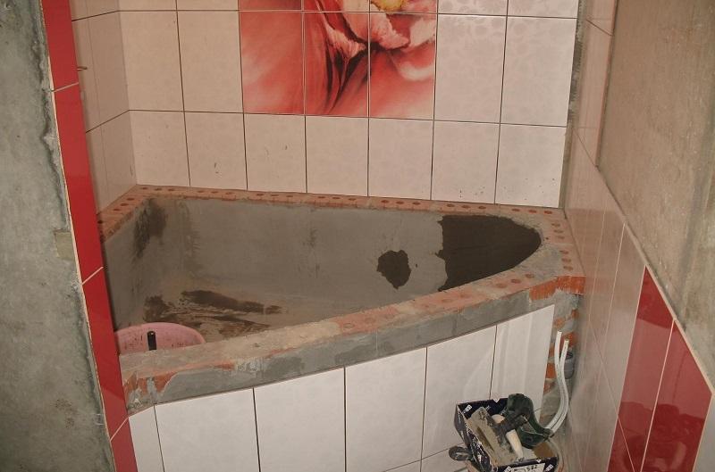 ванна для цементного раствора