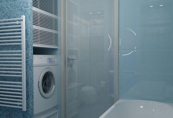 Размещение стиральной машины в нише
