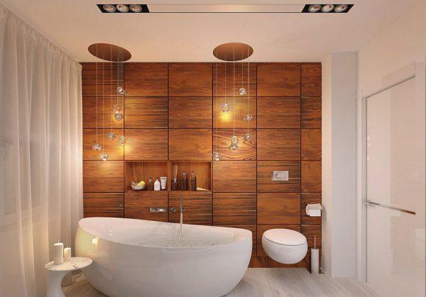 Коричневый цвет в дизайне ванной комнаты