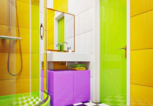 Яркие оттенки в дизайне