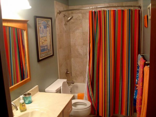 Обычные шторки для ванны