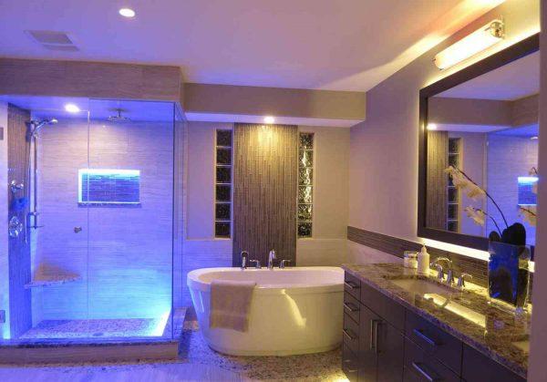 Как сделать освещение в ванной комнате  варианты и светильники